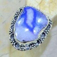 טבעת בשיבוץ אבן אגט בוטוצ'ואנה כסף 925 מידה:8.25