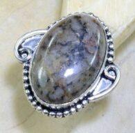 טבעת בשיבוץ דנדריט אופל כסף 925 מידה: 6.75