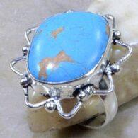 טבעת בשיבוץ טורקיז כסף 925 מידה: 8.5