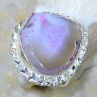 טבעת משובצת אגט דרוזי ורדרד כסף 925 מידה: 10