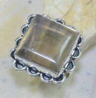 טבעת משובצת פלואורייט כסף 925 מידה: 10.75