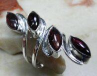 טבעת משובצת אמטיסט כסף 925
