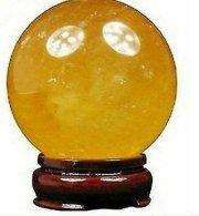 """קלציט זהב כדור ומעמד קוטר: 40 מ""""מ"""