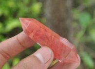קוורץ אדום מוט דו חודי משקל: 30 גרם