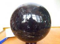 כדור ענק מאבן קוורץ שחור מיוחד לאספנים מהמם ונדיר