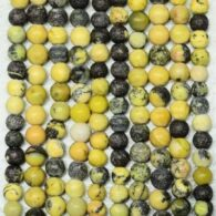 """תכשיטנות: שרשרת מאבני ג'בפר צהוב שחור 4 מ""""מ"""