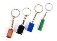 מחזיק מפתחות מאבן אוונטורין ירוק, אגט כחול או כתום