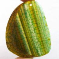 תליון אגט ירוק חום פסים