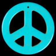 תליון טורקיז עגול עיצוב: סמל השלום