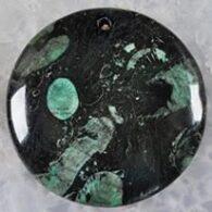 תליון קורל פוסייל ירוק עיצוב עגול