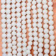 """תכשיטנות: שרשרת מאבני ג'ספר לבן 4 מ""""מ"""