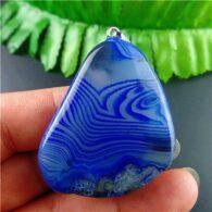 תליון אגט אוניקס גווני כחול