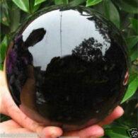 """כדור אובסידיאן ענק מהמם: 110 מ""""מ"""