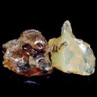 אבן חן: 2 יחידות אופל גלם לליטוש אתיופיה 6.15 קרט