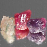 אבן חן: 3 יחידות טורמלין צבעוני 11.10 קרט