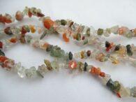 תכשיטנות: שרשרת צ'יפס מאבני אגט צבעוני
