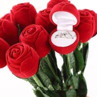 תכשיטנות: קופסת אריזה לטבעת מהודרת עיצוב פרח