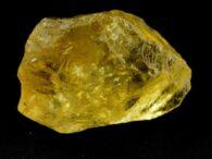 אבן חן: טופז צהוב גלם (ברזיל) לליטוש 187 קרט