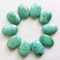 """אבן חן: טורקיז לשיבוץ עיצוב אובלי מידות: 13*15 מ""""מ"""