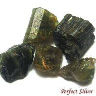 אבן חן: טורמלין ירוק גלם לליטוש 12.5 קרט 5 יחידות