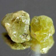 אבן חן: 2 יחידות ספיר גלם ירוק לליטוש (מדגסקר) 12.44 קרט
