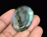 אבן חן: לברדורייט מלוטש לשיבוץ (מדגסקר) 77 קרט