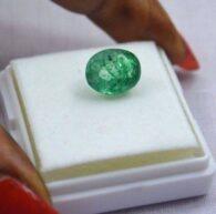 אבן חן: אמרלד מלוטש לשיבוץ (זמביה) תעודה 4.10 קרט