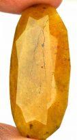 אבן חן: ספיר צהוב מלוטש לשיבוץ 72 קרט עיצוב אובלי