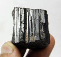 טורמלין גלם שחור משקל: 63 גרם