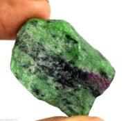 """אבן חן רובי זוסילייט גלם לליטוש (אפריקה) 90 קרט מידות: 16*19*22 מ""""מ"""