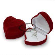 תכשיטנות: קופסת אריזה לתכשיטים עיצוב לב ארגמן