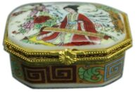 תכשיטנות: קופסת תכשיטים פורצלן מלבן איורים סיניים