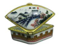 תכשיטנות: קופסת תכשיטים פורצלן מעוגל איורים סיניים