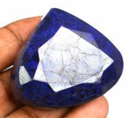 """אבן חן: ספיר מלוטש לשיבוץ (אפריקה) 357 קרט מידה: 23*41*48 מ""""מ"""