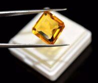 """אבן חן: סיטרין מלוטש לשיבוץ (ברזיל) 12.25 קרט מידות: 7*13*14 מ""""מ"""