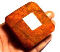 """אבן חן: בריל צהוב מלוטש (אפגניסטן) 799 קרט מידות: 27.04*53.06*55.08 מ""""מ"""