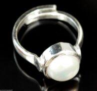 טבעת פנינה לבנה איכותית (תעודה) 24.75 קרט