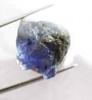 """אבן חן: טנזנייט גלם לליטוש (טנזניה) 15.50 קרט מידות: 9*13*14 מ""""מ"""