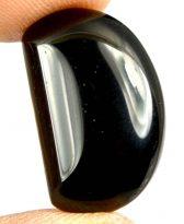 אבן חן: אגט שחור מלוטש לשיבוץ (תימן) 12.35 קרט