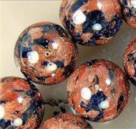 """תכשיטנות: שרשרת מאבני גולדסטון מידה: 6 מ""""מ"""