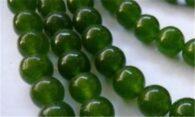 """תכשיטנות: שרשרת מאבני ג'ייד ירוק מידה: 6 מ""""מ"""