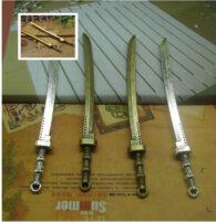 """סכין ויקה מוכסף לכישופים אורך: 108 מ""""מ"""
