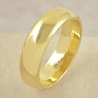 טבעת נישואים עבה 18 קרט גולדפילד מידה: 8
