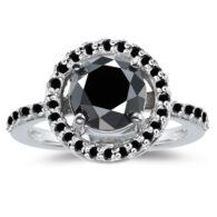 טבעת כסף 925 בשיבוץ אבני מואסנייט 3.57 קרט מידה 7