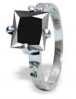 טבעת כסף 925 בשיבוץ יהלומי גלם ומואסנייט 3.01 קרט מידה: 6.5
