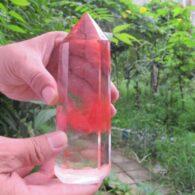 מוט קוורץ אדום חד חודי משקל: 460 גרם