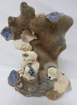 קורל טבעי איכותי (לא צבוע) גוון כחול משקל: 647 גרם