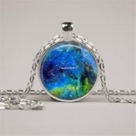 סמל גלקסיה... מקומי בעולם... תליון ושרשרת מוכסף