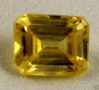 אבן חן: ספיר צהוב לשיבוץ עיצוב מלבני 7.18 קרט