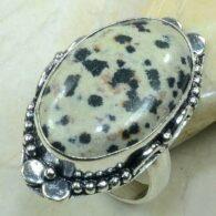 טבעת בשיבוץ ג'ספר דולומייט כסף 925 מידה: 8.5